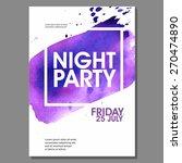 night party vector flyer... | Shutterstock .eps vector #270474890