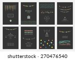 collection of hand drawn party... | Shutterstock .eps vector #270476540