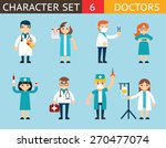 doctor and nurse characters... | Shutterstock .eps vector #270477074