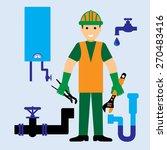 plumber | Shutterstock .eps vector #270483416