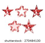 set of red vector stars | Shutterstock .eps vector #270484130