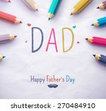 poster for happy father's day... | Shutterstock .eps vector #270484910