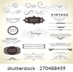 set of calligraphic elements... | Shutterstock .eps vector #270488459