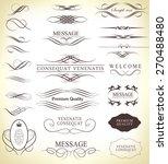 set of calligraphic elements... | Shutterstock .eps vector #270488480