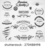 set of calligraphic elements... | Shutterstock .eps vector #270488498