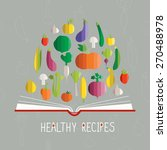 vector illustration of cookbook ... | Shutterstock .eps vector #270488978