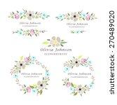 vector illustration of floral... | Shutterstock .eps vector #270489020