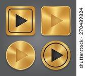 gold metallic play button  set... | Shutterstock .eps vector #270489824