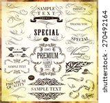 calligraphic design elements... | Shutterstock .eps vector #270492164