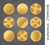 golden metal badge icons | Shutterstock .eps vector #270492248