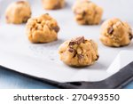 Raw Cookie Dough On A Baking...