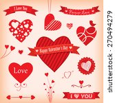 love banners and labels vector... | Shutterstock .eps vector #270494279