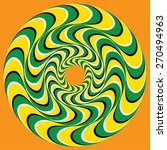 hypnotic swirly sphere. optical ...   Shutterstock .eps vector #270494963