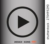 play. icon. vector design | Shutterstock .eps vector #270495290