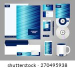 striped blue corporate identity ... | Shutterstock .eps vector #270495938
