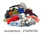 pile of dirty laundry on white... | Shutterstock . vector #270496703