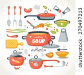 cooking soup objects collection | Shutterstock .eps vector #270497213