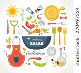 cooking salad objects collection | Shutterstock .eps vector #270497234
