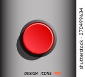 red button start  stop. icon.... | Shutterstock .eps vector #270499634