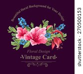 invitation vintage card with... | Shutterstock .eps vector #270500153