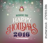 vintage style holidays greeting ... | Shutterstock .eps vector #270501386