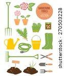 isolated spring gardening tools ... | Shutterstock .eps vector #270503228
