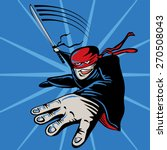 cartoon ninja  jumping ... | Shutterstock .eps vector #270508043