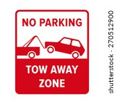 no parking sign. no parking ... | Shutterstock .eps vector #270512900