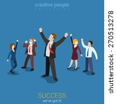 success in business flat 3d web ... | Shutterstock .eps vector #270513278
