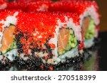 japanese cuisine   sushi roll... | Shutterstock . vector #270518399