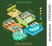 flat 3d isometric abstract spa... | Shutterstock .eps vector #270520400