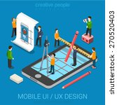 mobile ui   ux design web... | Shutterstock .eps vector #270520403