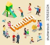 family modern lifestyle flat 3d ... | Shutterstock .eps vector #270523124