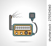 flat color design vector icon... | Shutterstock .eps vector #270524060