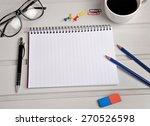 assorted office supplies on...   Shutterstock . vector #270526598