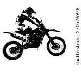 rider participates motocross... | Shutterstock .eps vector #270526928
