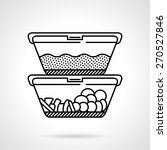 black flat line vector icon for ... | Shutterstock .eps vector #270527846