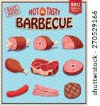 vintage meat for bbq design set | Shutterstock .eps vector #270529166