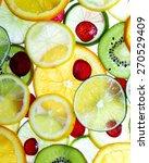 sliced fruit limes lemons... | Shutterstock . vector #270529409