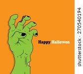halloween icon   zombie hand | Shutterstock .eps vector #270540194