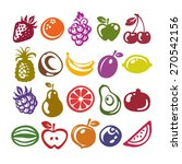 set of fruit icons isolated on... | Shutterstock .eps vector #270542156