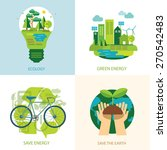 save the world and clean energy ... | Shutterstock .eps vector #270542483