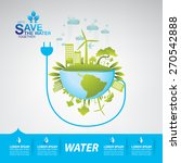 save the water   Shutterstock .eps vector #270542888