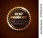best product premium vector... | Shutterstock .eps vector #270551474