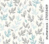 hand drawn leaf seamless... | Shutterstock .eps vector #270553409