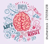 left and right brain functions  ... | Shutterstock .eps vector #270558158