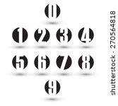 Numbers Set. Design Vector...