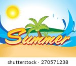abstract summer background with ... | Shutterstock .eps vector #270571238