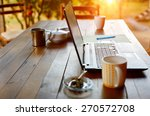 laptop computer  phone and... | Shutterstock . vector #270572708