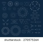 set of trendy geometric icon... | Shutterstock .eps vector #270575264